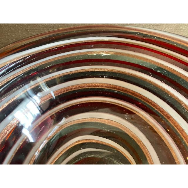 1960s 1960s Murano Candy Cane Stripe Bowl For Sale - Image 5 of 12