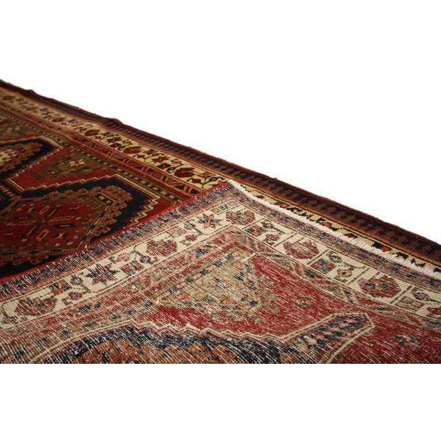 20th Century Nomadic Style Persian Azerbaijan Tribal Hallway Runner - 3′7″ × 10′9″ For Sale - Image 4 of 7