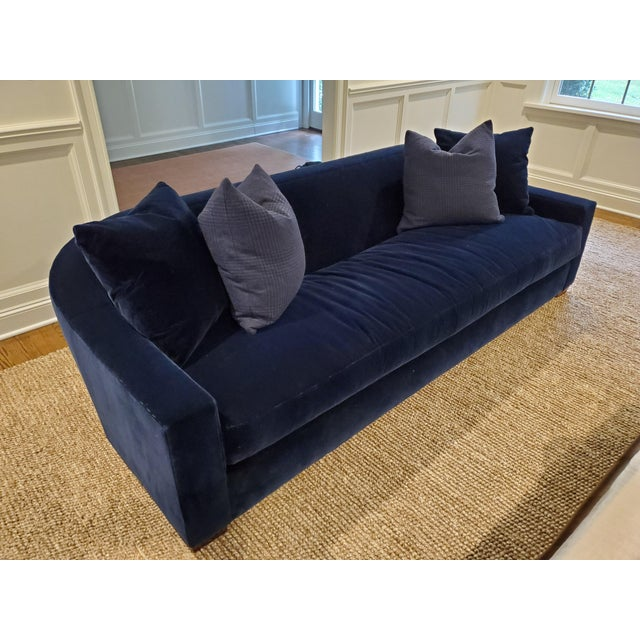 Ralph Lauren Ralph Lauren Tremont Sofa and Pillows For Sale - Image 4 of 6