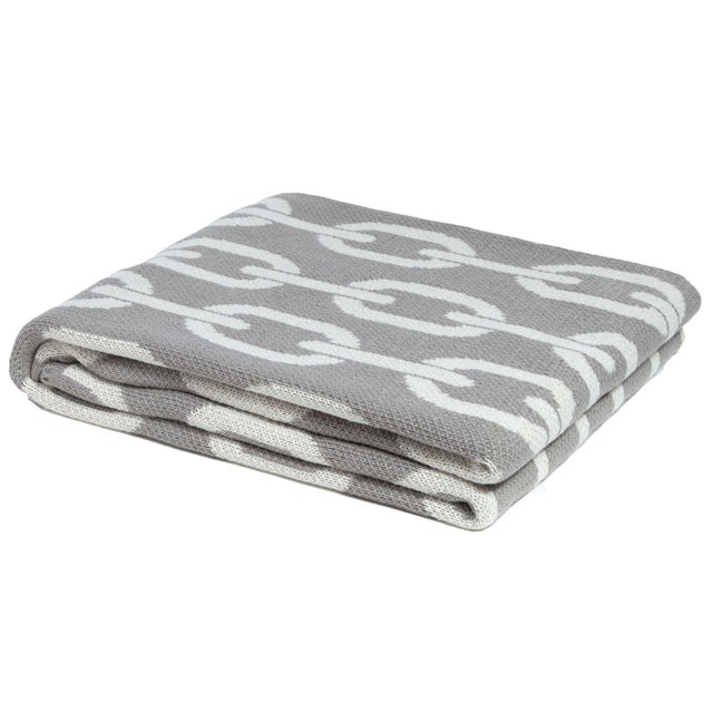 Contemporary Eco Poly Links Cargo & Ivory Throw For Sale - Image 3 of 3