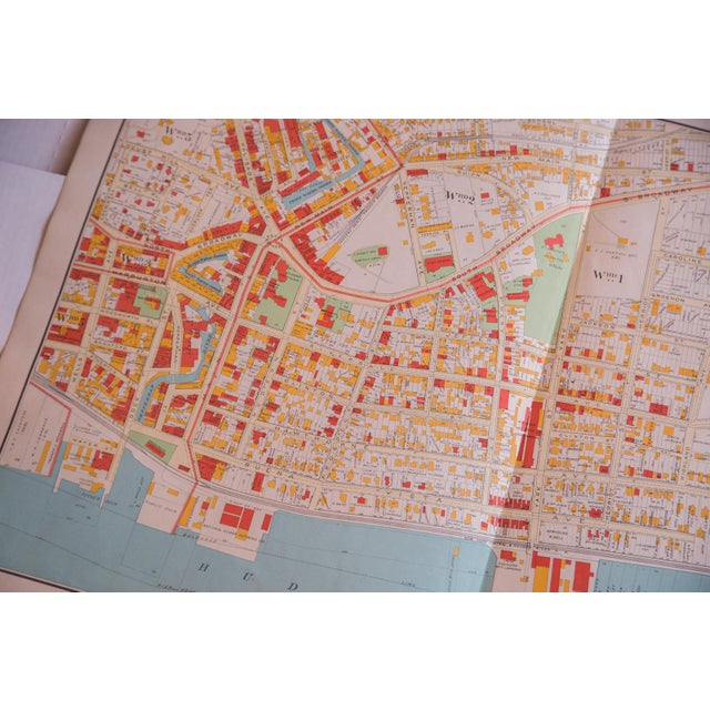 Antique Yonkers City Map For Sale - Image 4 of 5