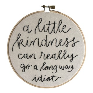 """A Little Kindness"" Embroidered Textile Art For Sale"