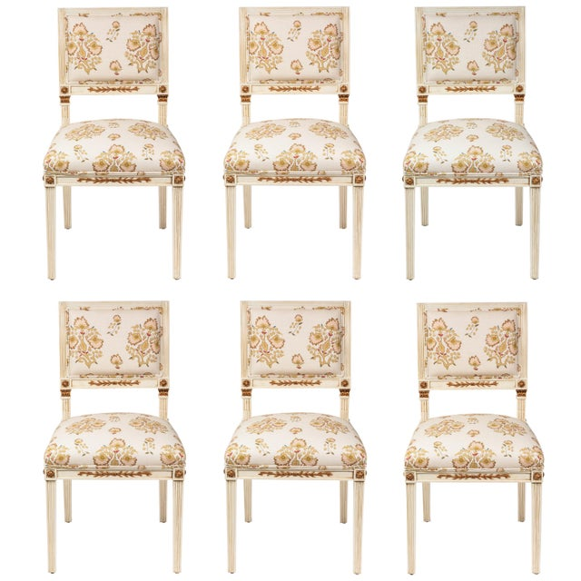 Dining Chairs Newly Upholstered in Penny Morrison 100% Linen - Set of 6 For Sale - Image 13 of 13
