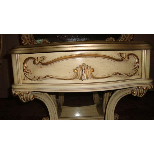 Hollywood Regency Mirrored Commodes - a Pair For Sale - Image 9 of 11