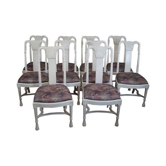 Whitewash Dining Chairs - Set of 10 - Image 1 of 10