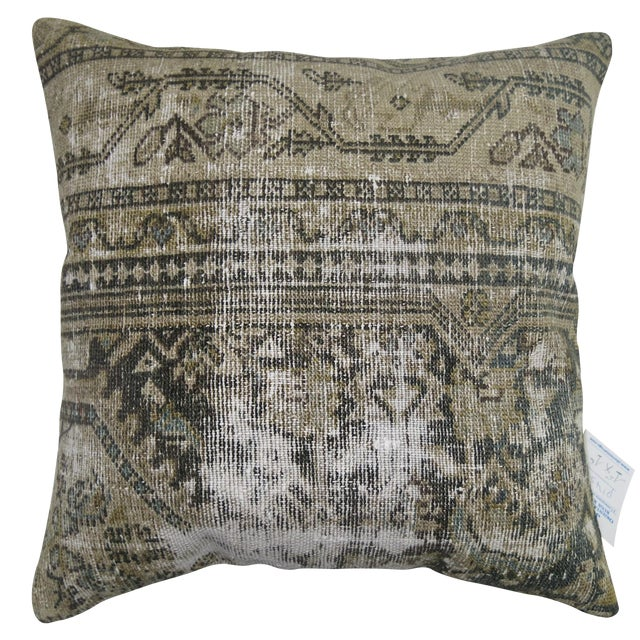 Vintage Distressed Persian Malayer Pillow - Image 1 of 3