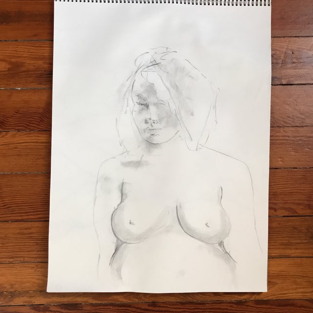 Pregnant Nude Drawing - Image 2 of 3