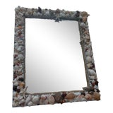 Image of Large Beautiful Shell Mirror For Sale