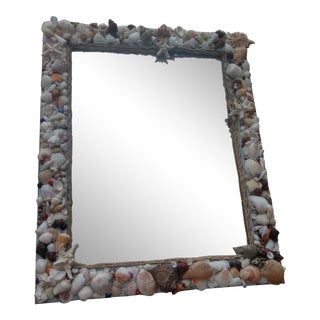 Large Beautiful Shell Mirror For Sale