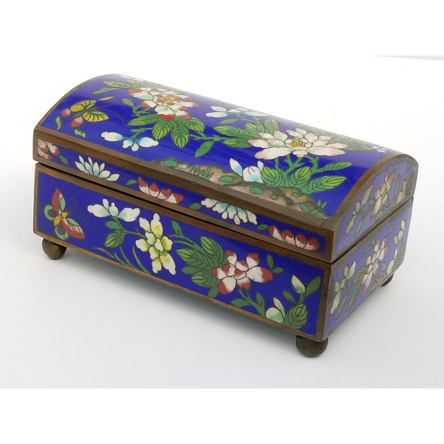 Antique Chinese Cloisonne Box For Sale - Image 11 of 11