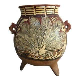 Vintage Mexican Tlaquepaque Pottery Fantasia Vessel For Sale