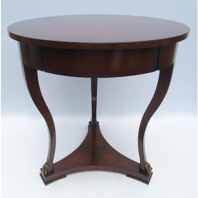 "C.1998; Original Nancy Corzine Design; custom English walnut ""DeSilva,"" Accessory table, This tables attributes have..."