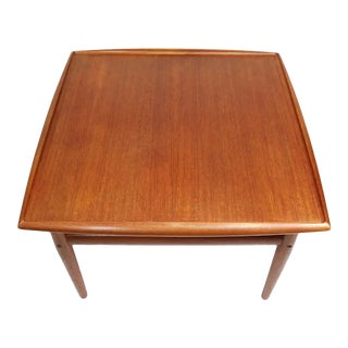 Grete Jalk for Glostrup Mobelfabrik Square Danish Teak Side Table For Sale