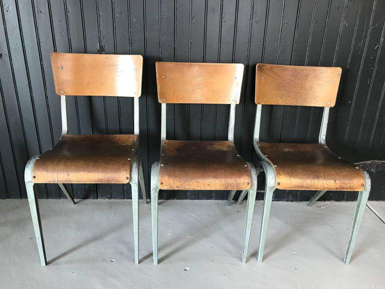 James Leonard For Esavian French Industrial Chairs   Set Of 3   Image 2 Of 6
