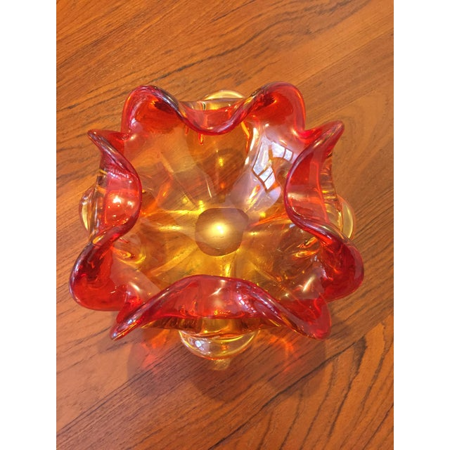 This is a wonderful Murano art glass bowl. We love how it looks with Midcentury furniture, but it would be equally at home...