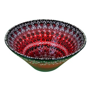 Vintage Hand Made and Signed Turkish Bowl For Sale