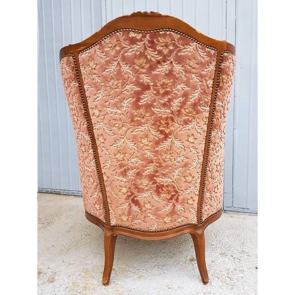 Red Pink Three Piece French Antique Louis XV Style Carved Parlor Suite Sofa Canape Loveseat For Sale - Image 8 of 13