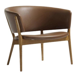 Nanna and Jørgen Ditzel Leather Lounge Chair For Sale