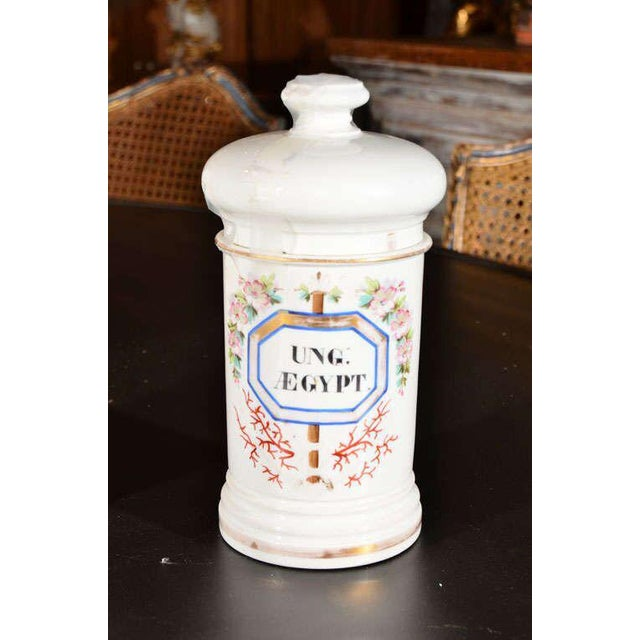 Porcelain Apothecary Jars For Sale - Image 4 of 9