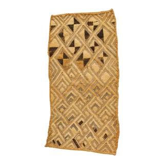 Stunning Ivory Antique Kuba Raffia Panel For Sale