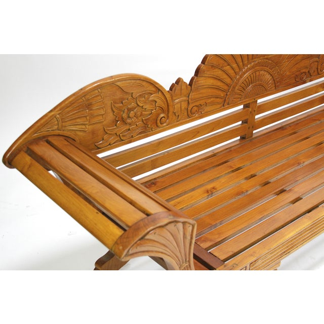 Colonial Java Carved Bench - Image 4 of 7