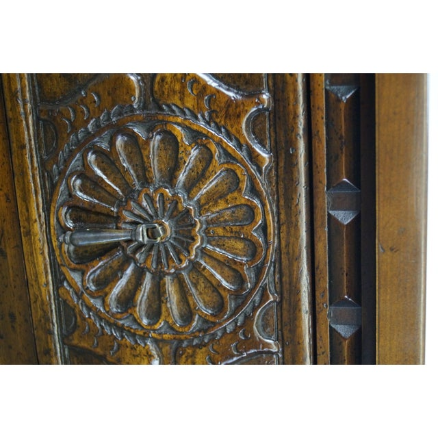 Walnut Widdicomb Sunflower Carved Chests - A Pair For Sale - Image 7 of 10