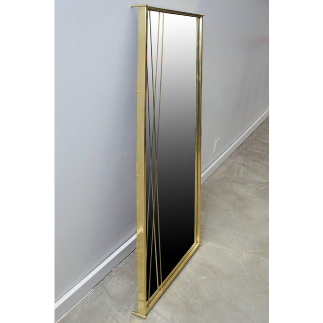 Paul McCobb Brass 'X' Mirror by Paul McCobb for Bryce Originals, 1956 For Sale - Image 4 of 7