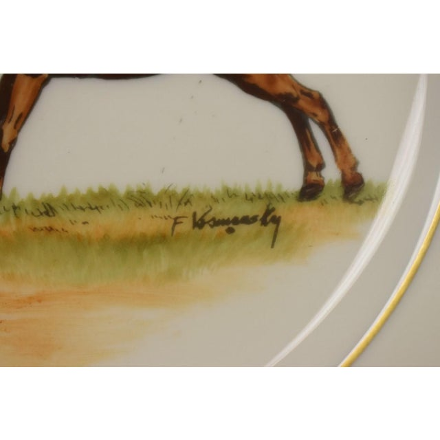 Rustic 1950s Vintage Frank Vosmansky for Abercrombie & Fitch Mfh Huntsman Plate For Sale - Image 3 of 6