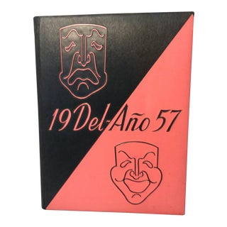 1950's Vintage Comedy/Tragedy Mask Decorative Yearbook For Sale