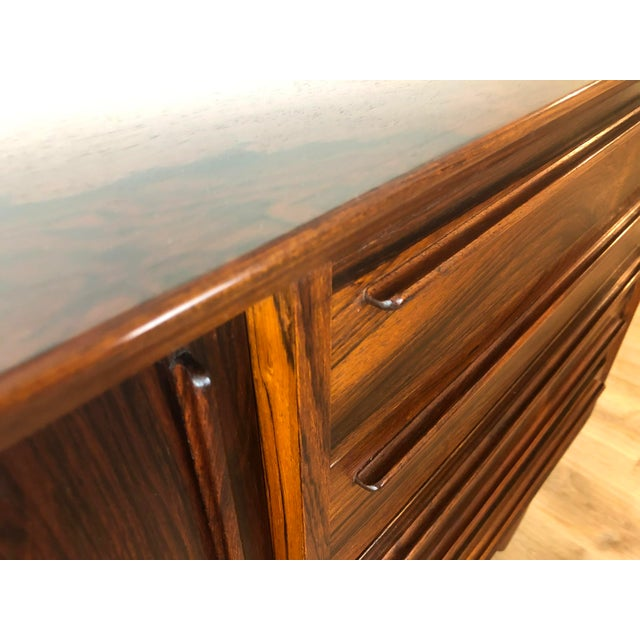 Mid-Century Modern h.p. Hansen Danish Rosewood Credenza MCM For Sale - Image 3 of 13