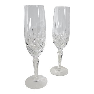 Gorham Lady Anne Fluted Champagne Glasses - a Pair For Sale