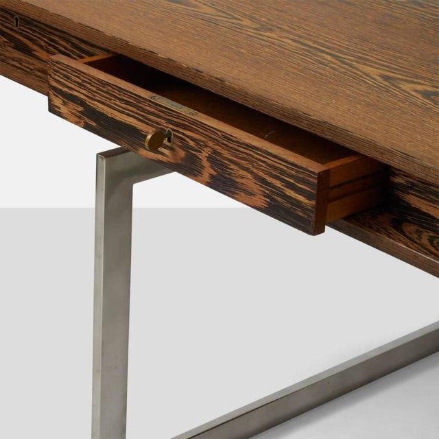 Mid-Century Modern Wenge Bodil Kjaer Desk by E Pederseon and Sons For Sale - Image 3 of 6