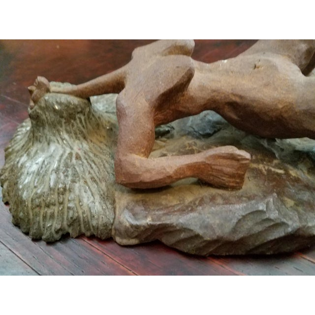 Mid-Century Modern Vintage Mid-Century Abstract Nude Woman Sculpture Statue For Sale - Image 3 of 9
