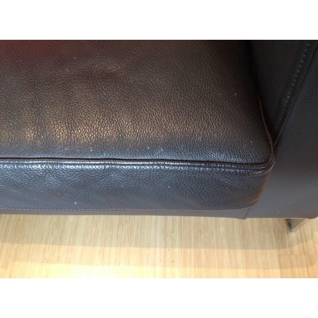 Verdesign Dark Grey Leather Modern Sofa & Ottoman - Image 11 of 11