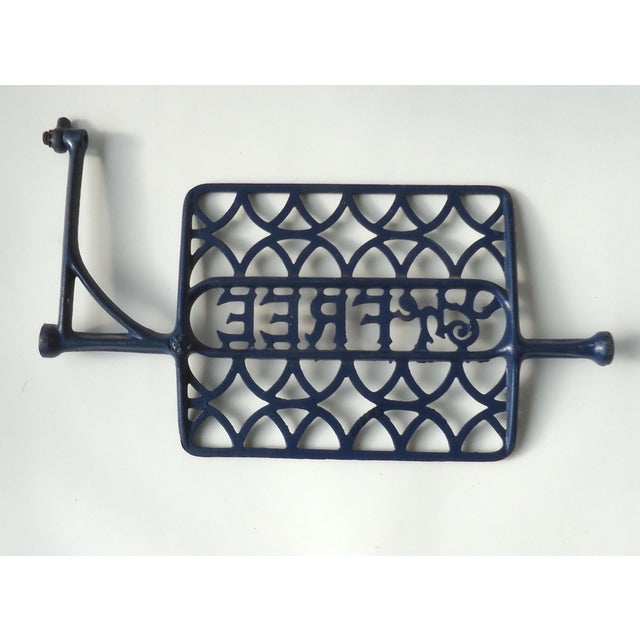 Americana Folk Art Antique Sewing Machine Treadle Object For Sale - Image 3 of 4