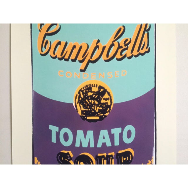 "Mid-Century Modern Andy Warhol Foundation Lithograph Print Pop Art Poster "" Campbell's Soup Can "" 1965 For Sale - Image 3 of 12"