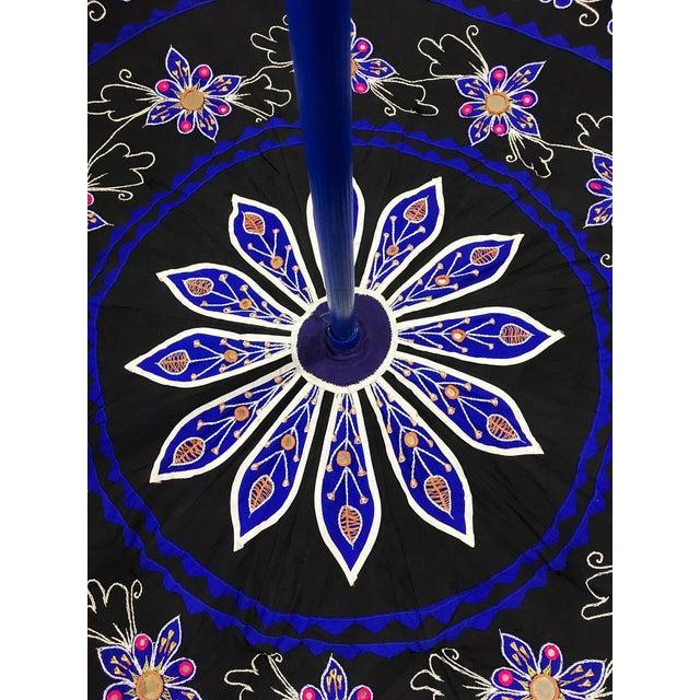 Sun Umbrella Garden Umbrella, Embroidered Cotton - Image 4 of 11