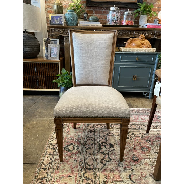 French Set of 8 Traditional Louis Oak Dining Chairs For Sale - Image 3 of 11