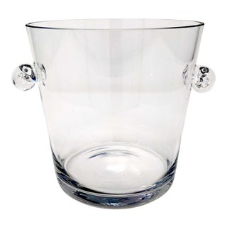 Mid-Century Glass Ice Bucket For Sale