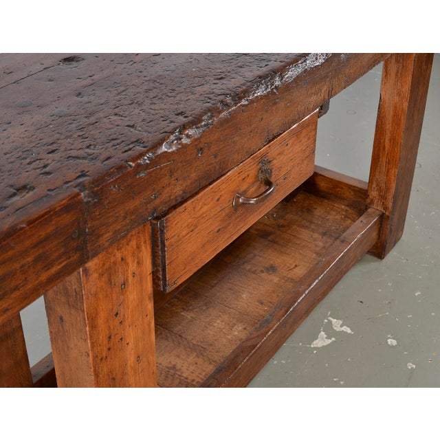 19th Century French Carpenters Workbench Table For Sale - Image 11 of 13