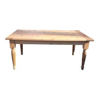 Late 20th Century Handmade Pine Farm Table