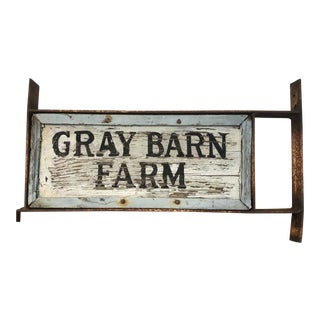 Rustic Country Two Sided Farm Sign For Sale