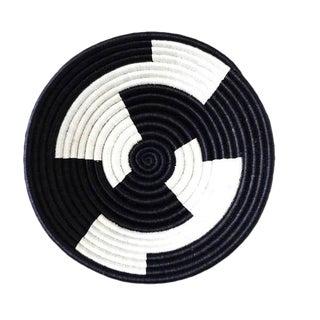 Black & White African Basket For Sale