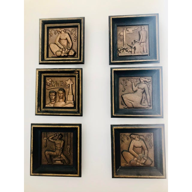 1940s Bronze Wpa Plaques - Set of 6 For Sale - Image 12 of 12