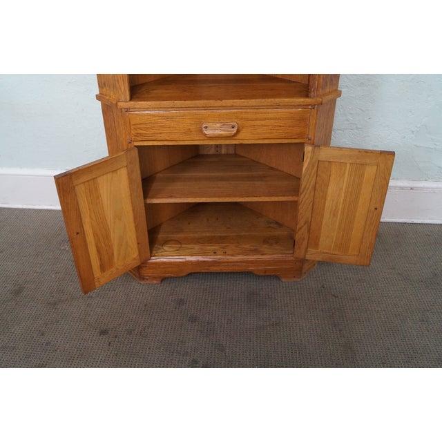 Brandt Ranch Oak Rustic Corner Cabinet - Image 6 of 10
