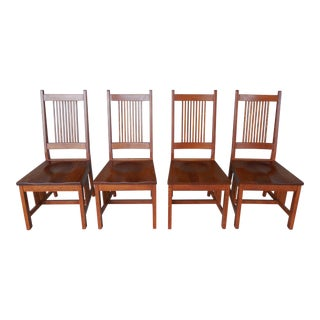 Arts & Crafts Mission Oak Chairs - Set of 4