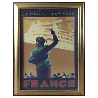 Mid 20th Century Framed Travel Poster For Sale