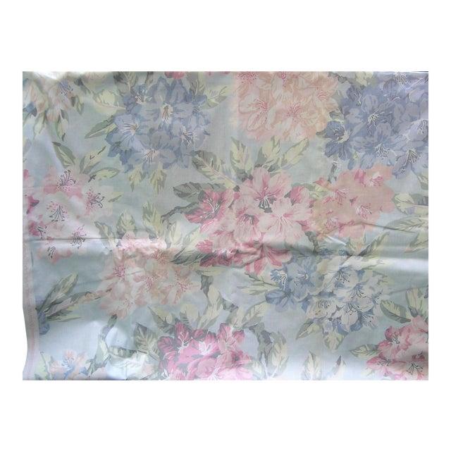 Vintage Schumacher Waverly Cotton Fabric Flower Show Botanical Collection 2-2/5 Yd For Sale