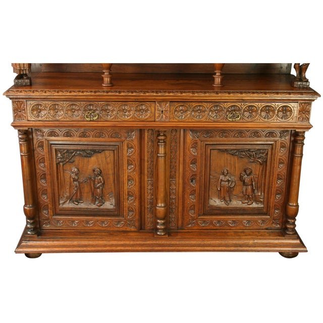Antique Chestnut French Brittany Style Buffet For Sale - Image 4 of 8
