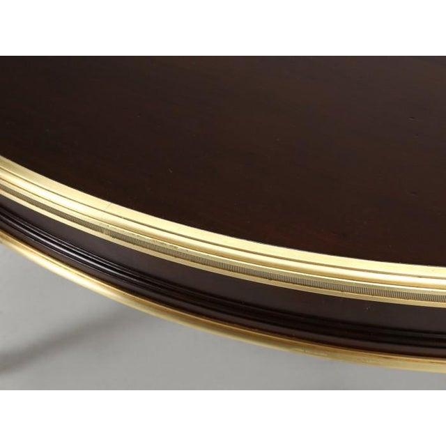 Gold Antique French Louis XVI Mahogany Oval or Round Dining Table For Sale - Image 8 of 13